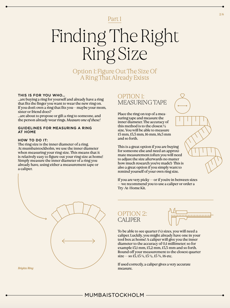 Figure Out Your Ringsize From Home