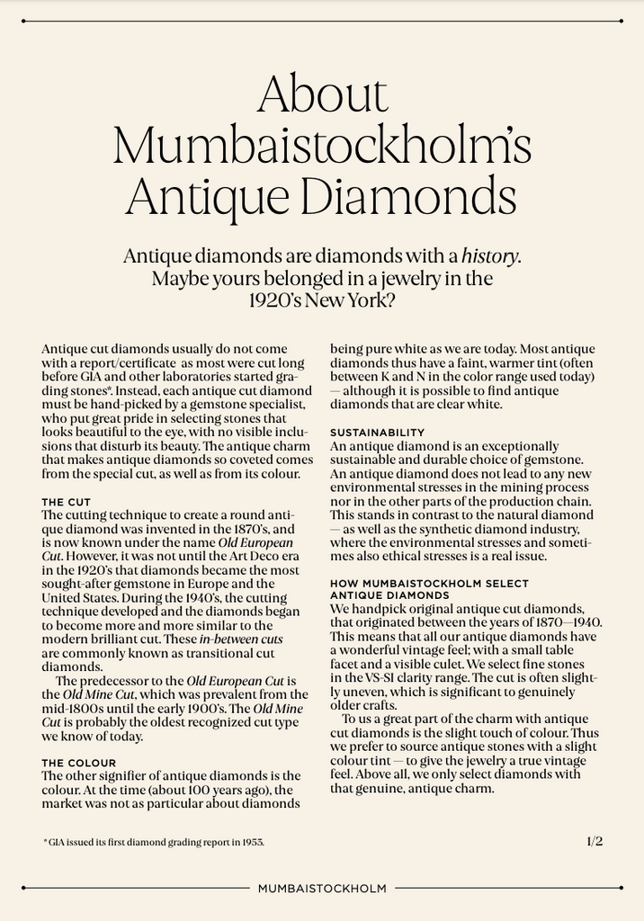 About Antique Diamonds