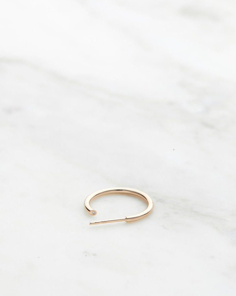 Hidden Gem Petite Hoop (Sold as single)