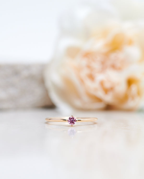 Start Bidding: Not So Tiny Diamond Ring with a Light Pink Sapphire