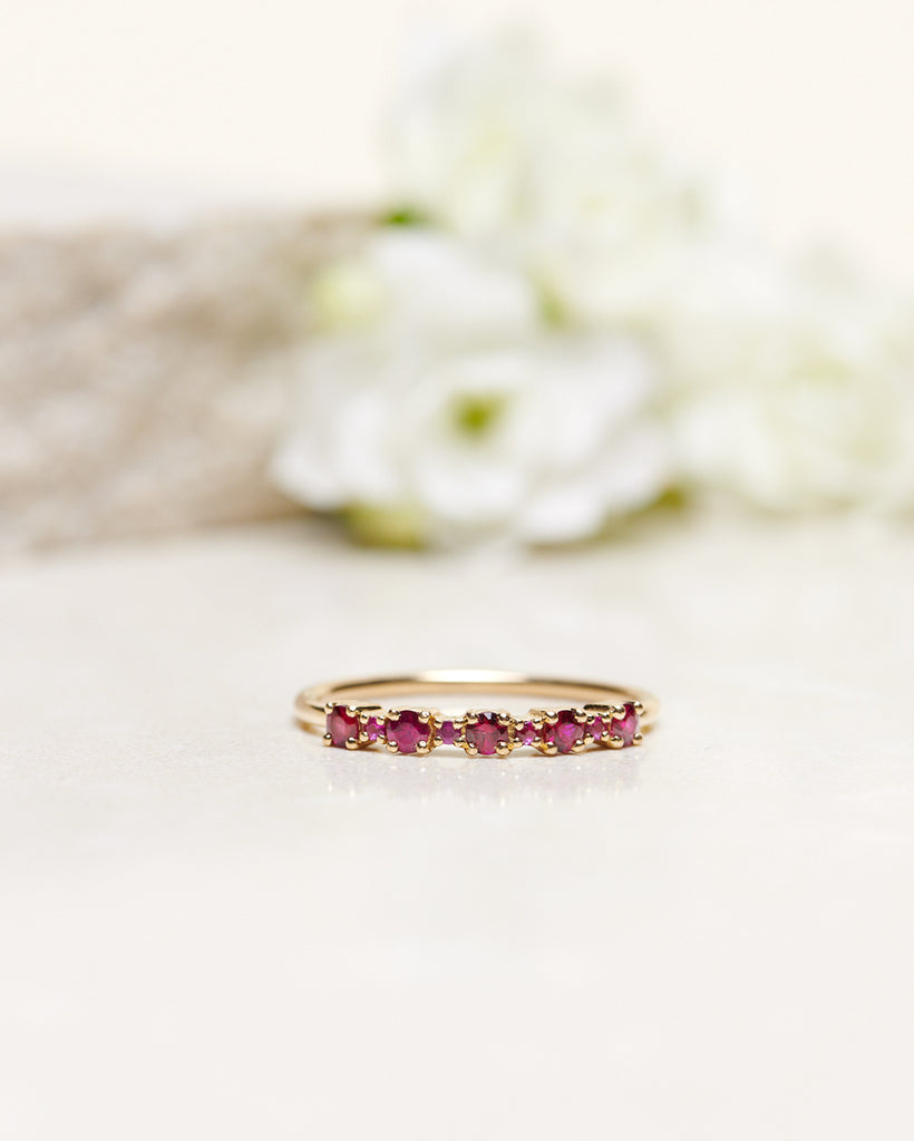 Finished: Mini Brigitte Ring with Red Rubies