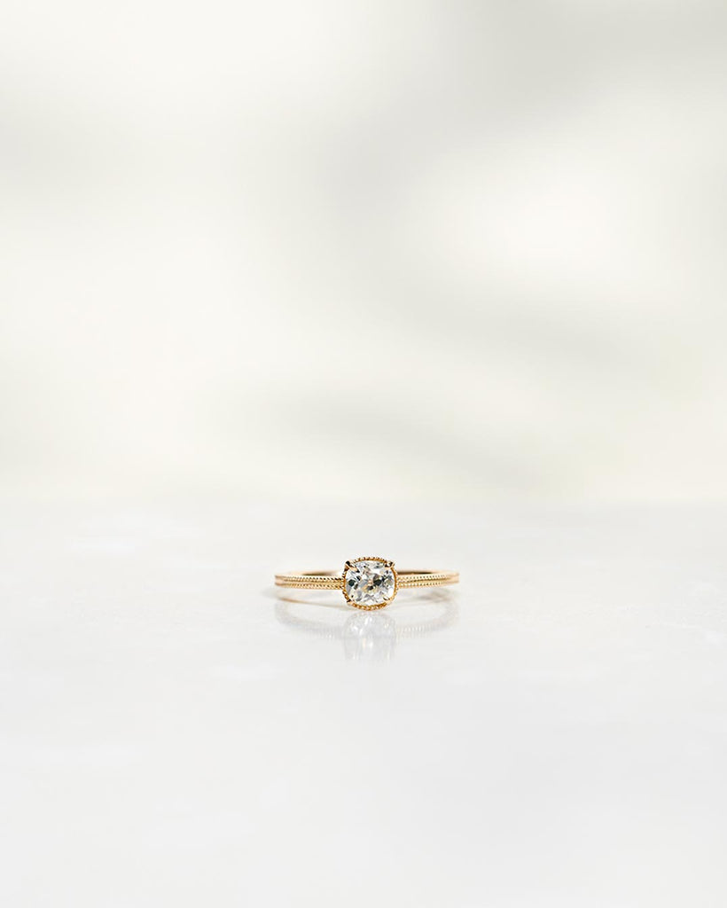 SOLD: Antique Old Mine Cut Diamond Solitaire Ring 0.57 CT