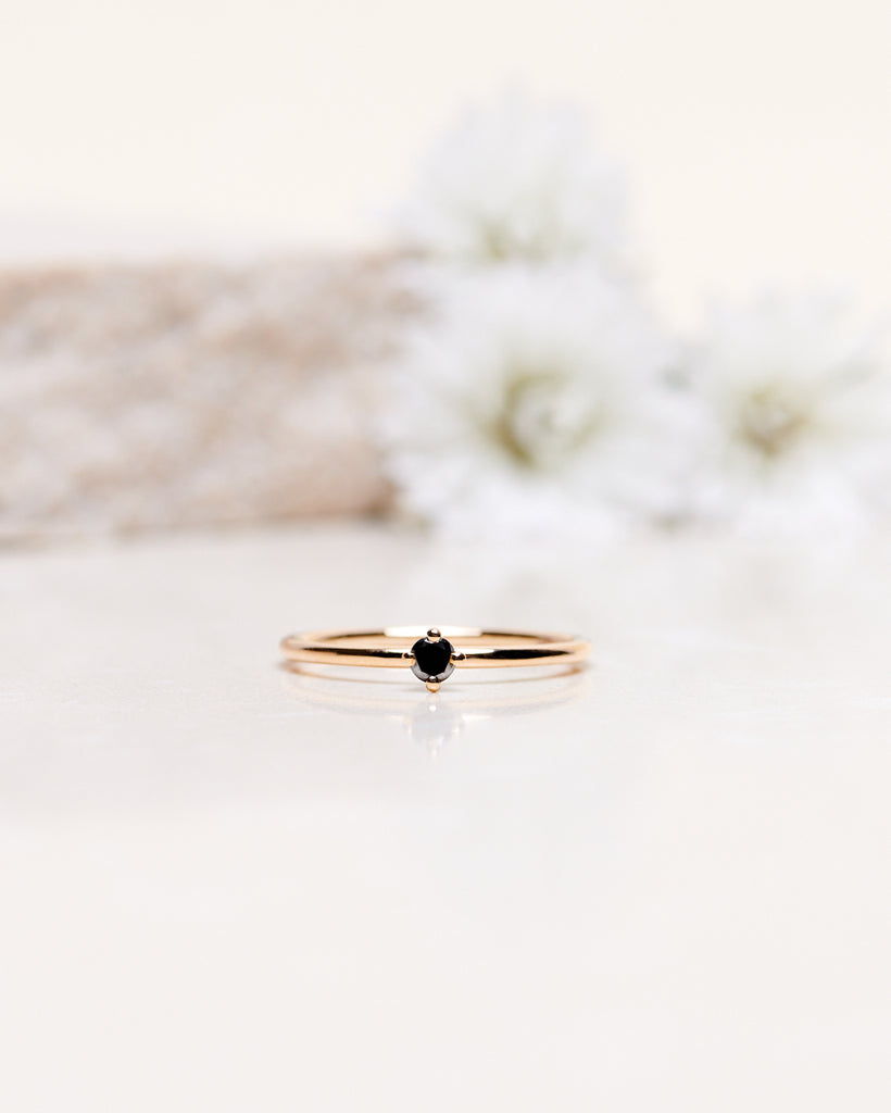 Finished: Not So Tiny Diamond Ring With Black Diamond