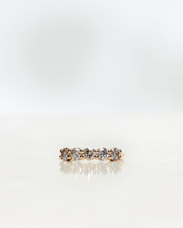 Angel Ring 1.0 CT with Champagne Diamonds