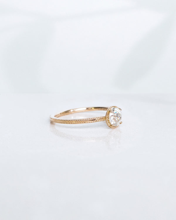 SOLD: Antique Diamond Solitaire Ring 0.51 CT