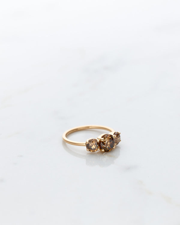 Edith Ring 2.0 CT with Dark Chocolate Diamonds