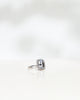 Emerald-Cut Diamond Halo Solitaire with 4.10 CT Topaz and 0.20 CT Brilliant Diamonds (Total 4.30 CT)