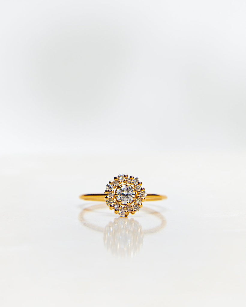 Flower Ring All Diamonds (Total 0.46 CT)