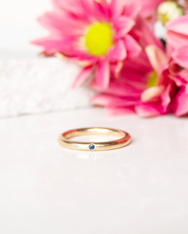Finished: Hidden Gem Ring with A Blue Sapphire