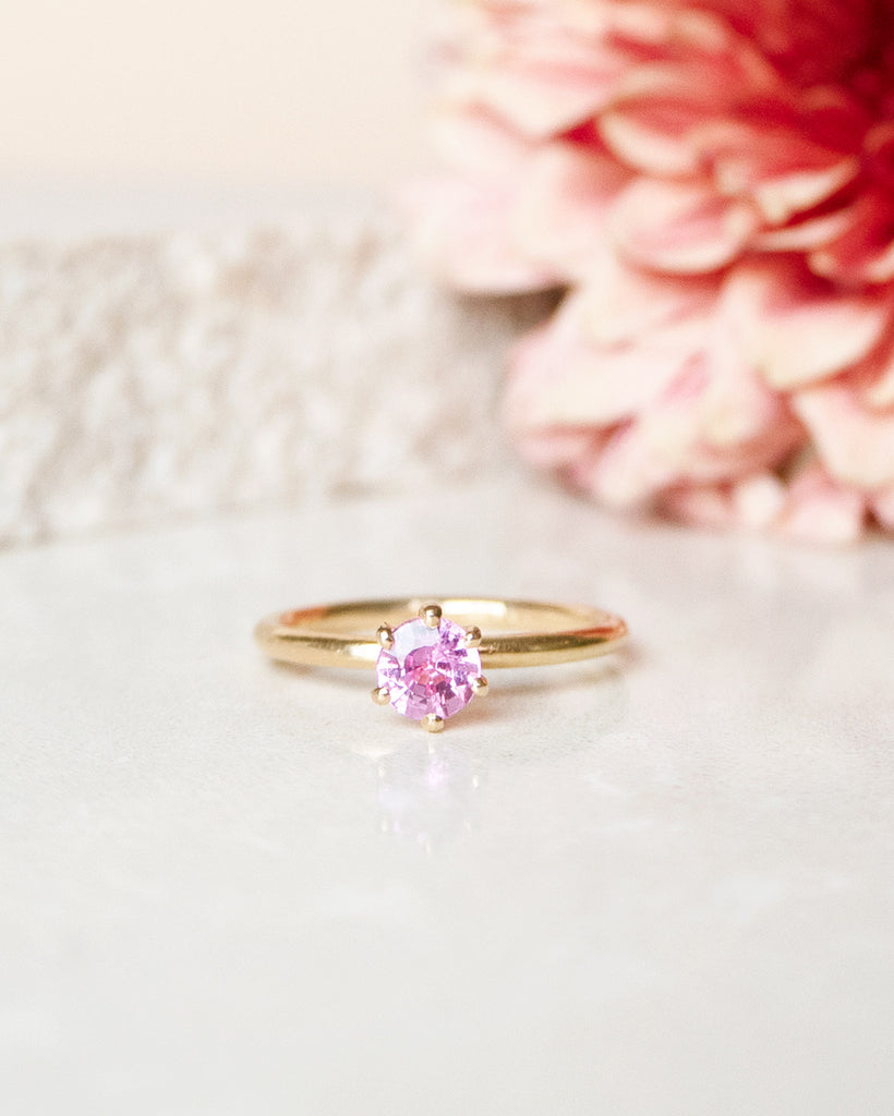 Finished: 0.50 CT Hot Pink Sapphire Solitaire