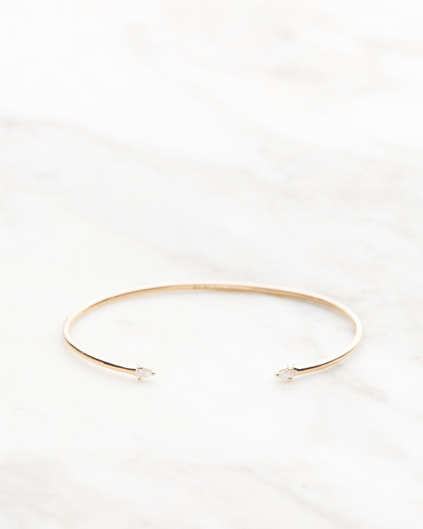 Lily Diamond Drop Cuff