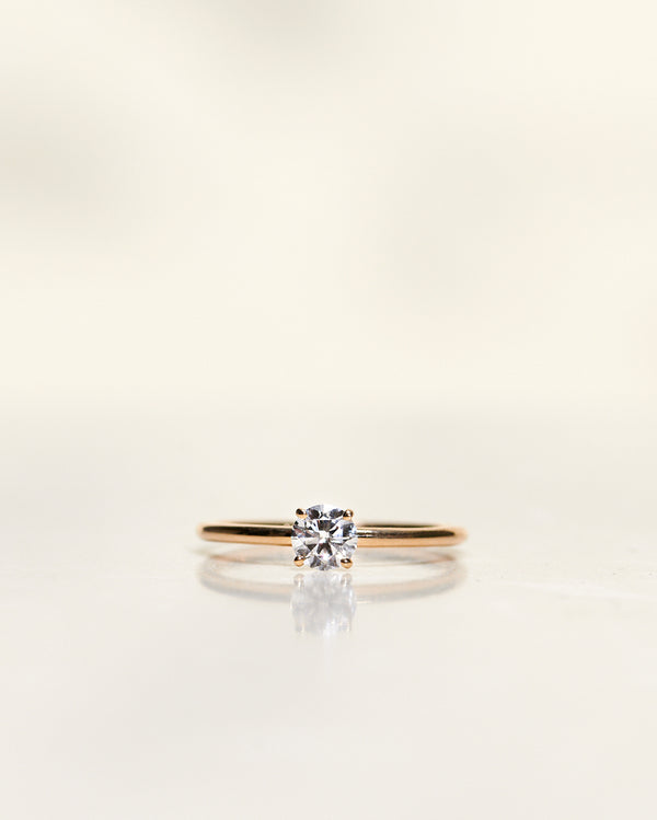 Low Classic Solitaire 0.30-0.50 CT