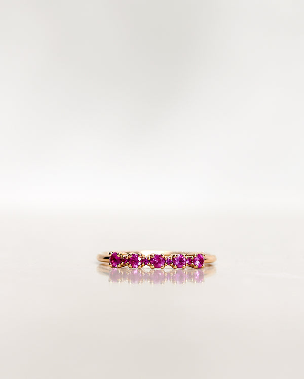 Mini Brigitte Ring with Hot Pink Sapphires (0.24 CT/0.26 CT)