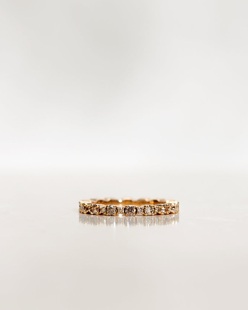 Mini Kelly Ring with Champagne Diamonds (0.80 CT)