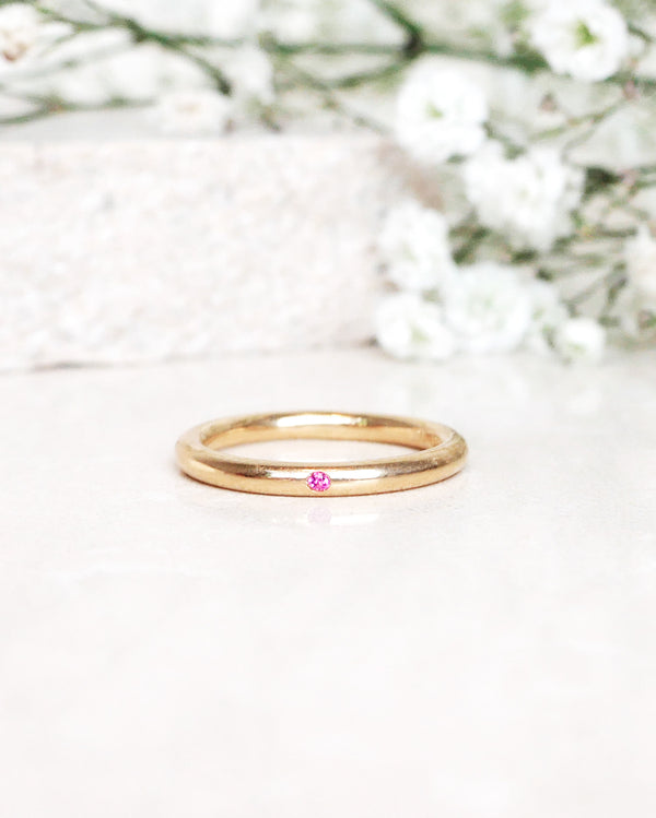 Finished: Hidden Gem Ring with Hot Pink Sapphire