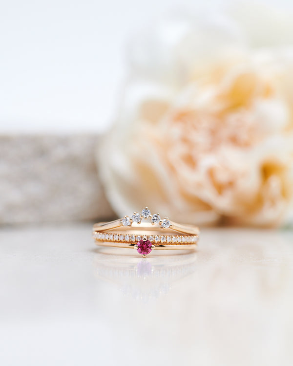 Finished: Not So Tiny Diamond Ring with a Hot Pink Sapphire