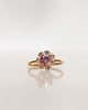 One-Of-A-Kind Flower Ring with Light Pink Morganite and a halo of Champagne Diamonds and Diamonds (1.48 CT)