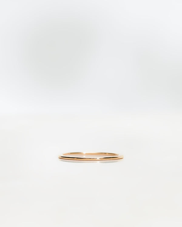 Plain Oval Gold Band (Super Thin) (1x1.6 mm)