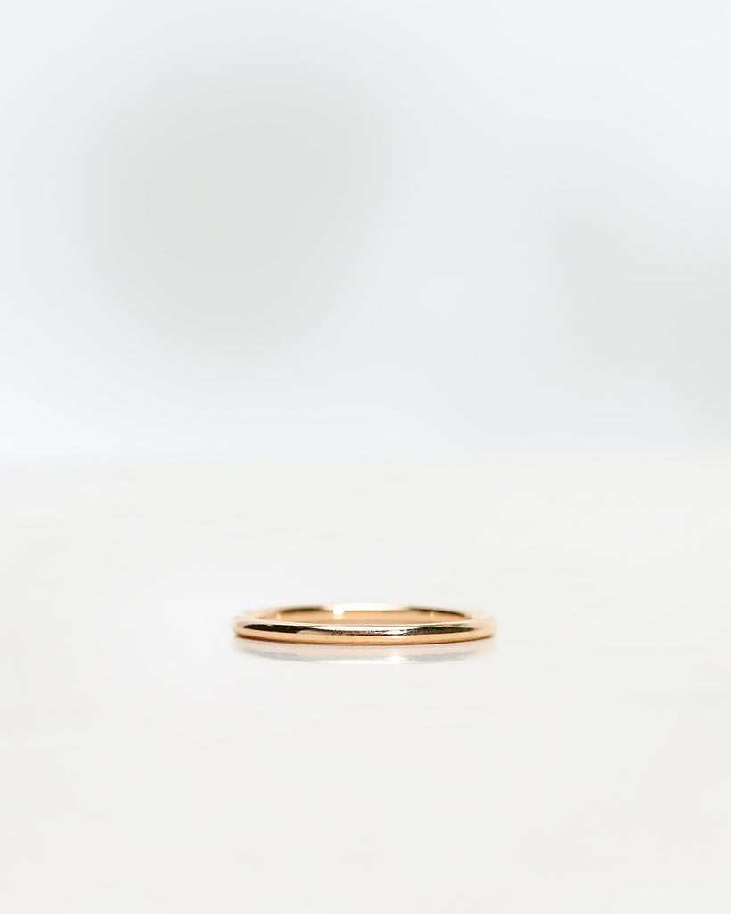 Plain Round Gold Band 1.5 mm