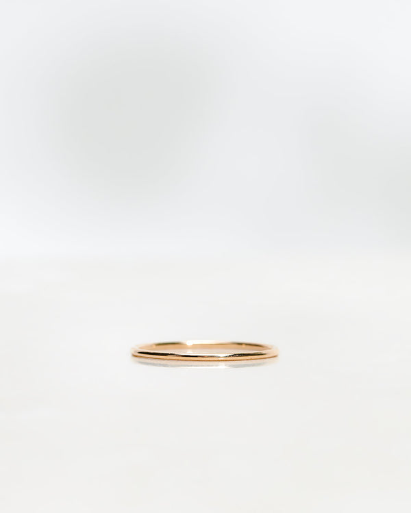 Plain Round Gold Band 1 mm (Super thin)