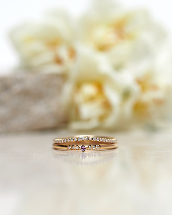 Finished: Tiny Little Sparkle Ring with a Light Pink Sapphire and Diamonds TWVS