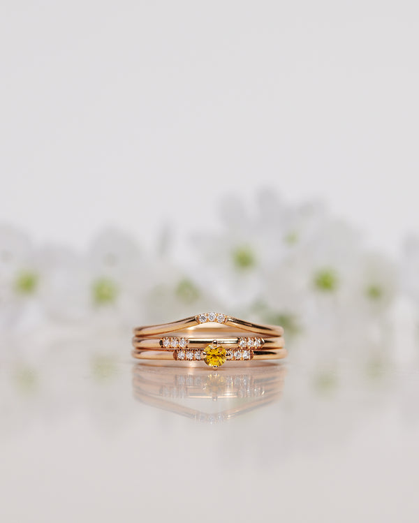 Finished: Not So Tiny Little Sparkle Ring with a Yellow Sapphire and Diamonds