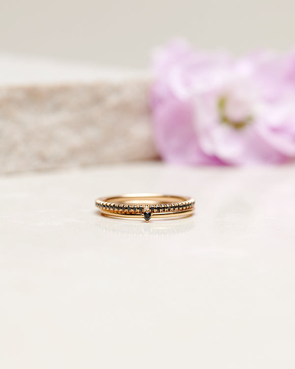 Finished: Tiny Diamond Ring with Black Diamond