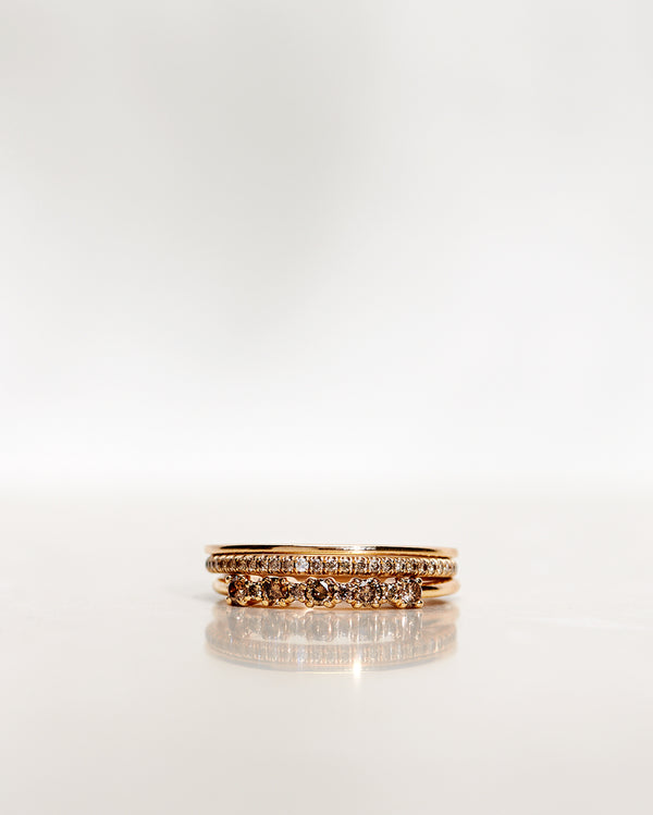 Mini Brigitte Ring with Chocolate Diamonds (0.24 CT/0.26 CT)