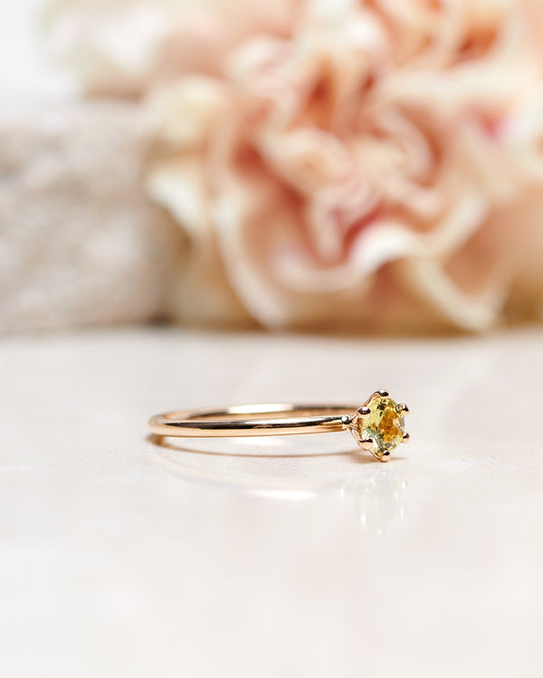 Finished: Solitaire Petite 0.42 CT with Light Yellow Sapphire