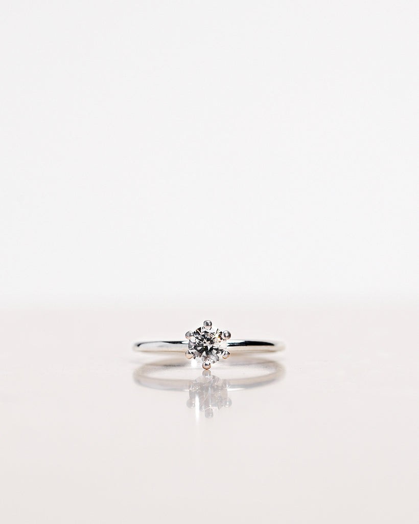 Solitaire Petite Ring in White Gold (0.30-0.70 CT)