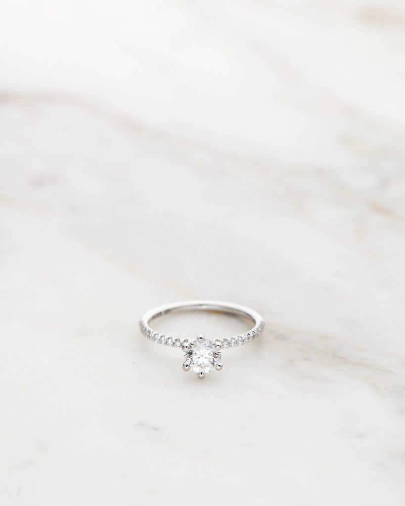 Solitaire Petite Sparkle Ring 0.60 CT