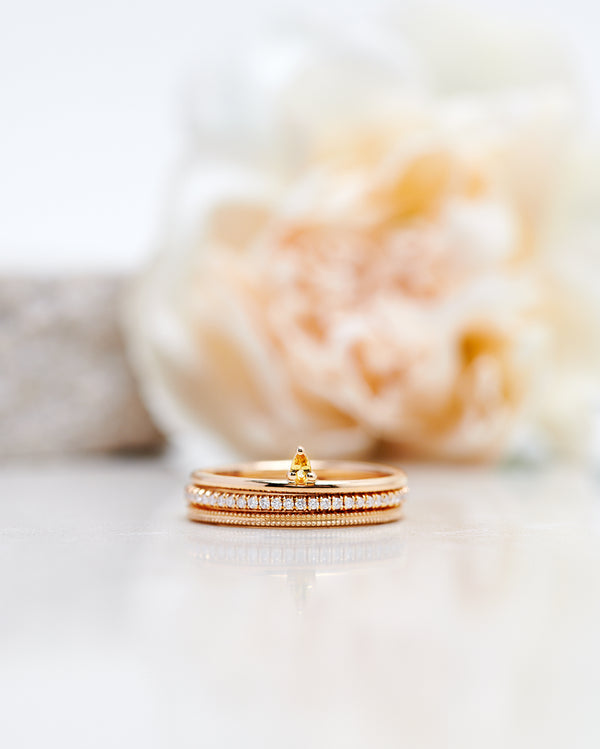 Finished: Lily Tiny Drop Ring with a Yellow Sapphire Drop