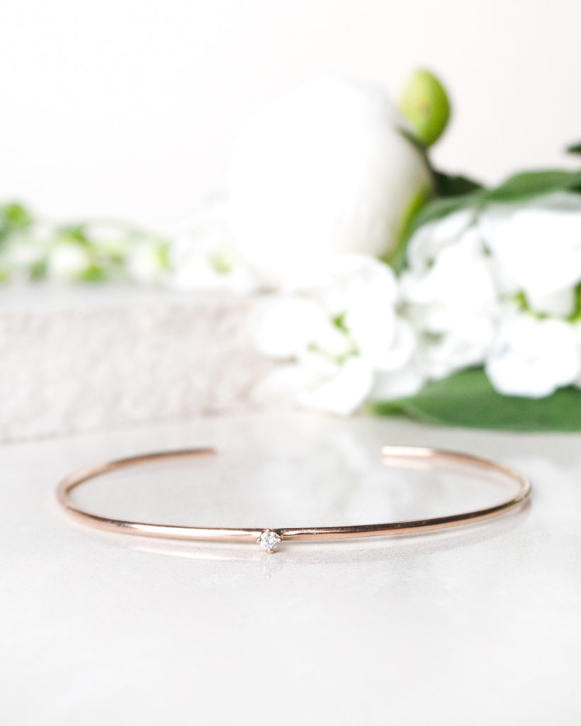 Finished: Tiny Diamond Cuff in Rose Gold