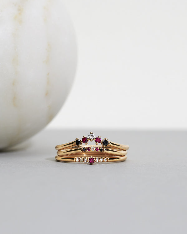Start bidding: Tiny Little Sparkle Ring with Red Rubies and Diamonds TWVS