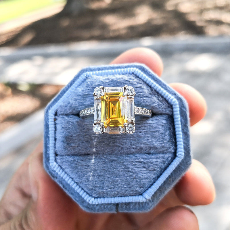 Amber Daylight Asura Collection Limited Edition 14K Solid White Gold