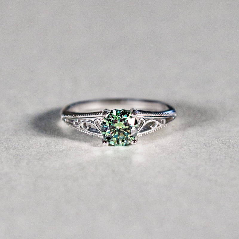 Deep Woods Dryad Fancy Green Moissanite Ilium Collection Limited Edition