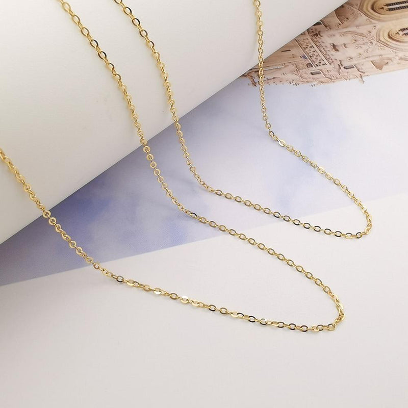 18K Yellow Gold Simple Chain
