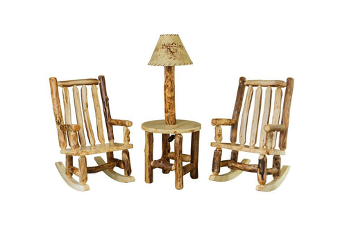 log rocking chairs