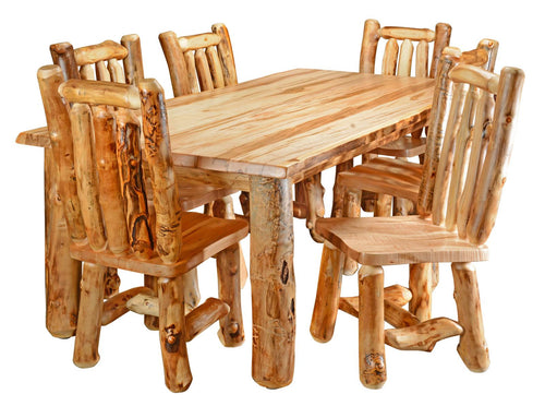 Log Dinning Room Table