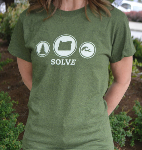 Recycled Material Green T-Shirt