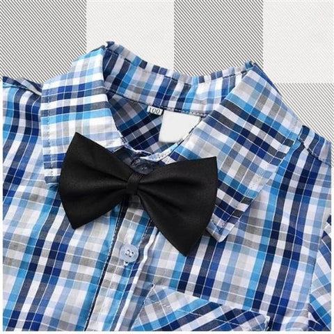 b639f3eb Plaid Button Down and Bow-Tie Set – Tree House Project Co.