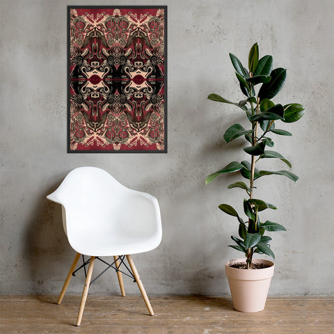 Fractal Motion Framed poster