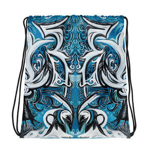 Divine Blue Drawstring bag