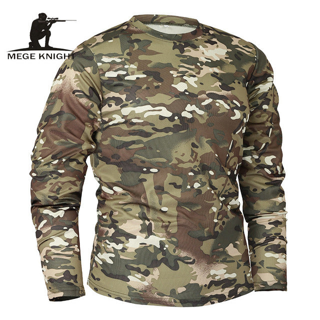 c417a09ca ... Mege Brand Clothing New Autumn Spring Men Long Sleeve Tactical  Camouflage T-shirt camisa masculina ...