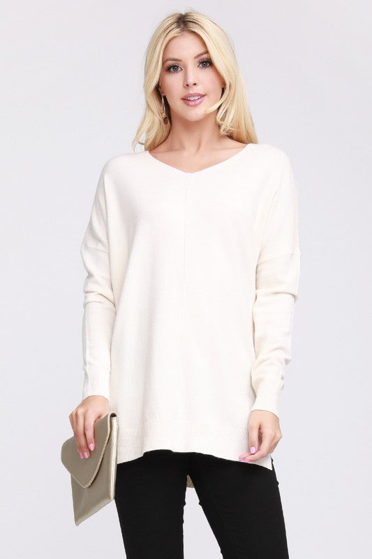 New Winter Ninexis - Super Soft Tunic Sweater - Ivory.