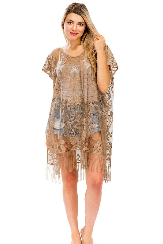 Floral Lace Cover Up