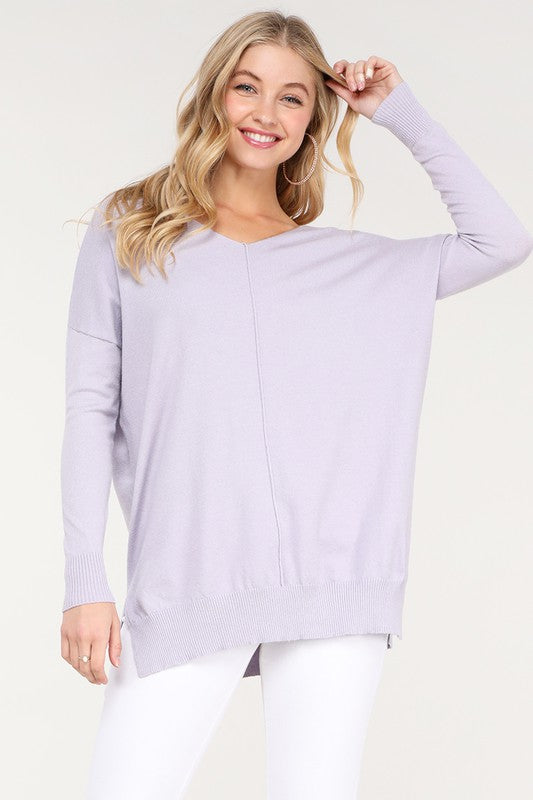 New Winter Ninexis - Super Soft Tunic Sweater - Lilac (Regular and Plus Size).