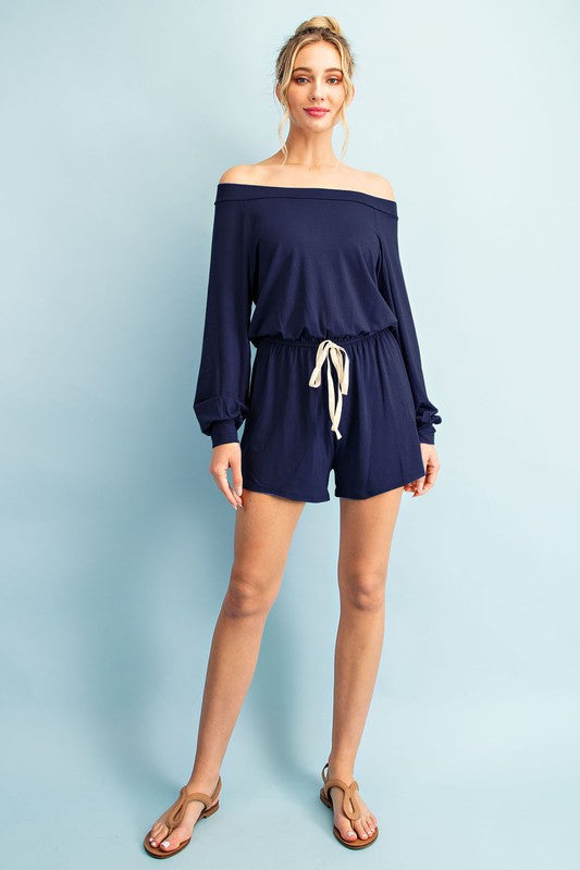 Navy Romper - OWN YOUR ELEGANCE