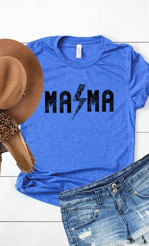 New Winter KISSED - Rock and Roll Mama T-Shirt - Royal Blue - OWN YOUR ELEGANCE