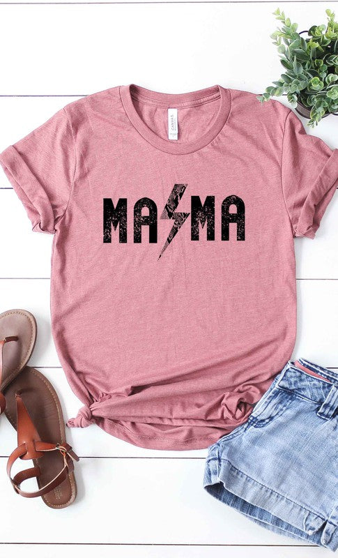 Rock and Roll Mama T-Shirt - Mauve.